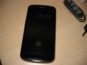 Galaxy Nexus Sperrschirm