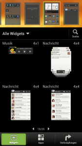 Widgets HTC One S