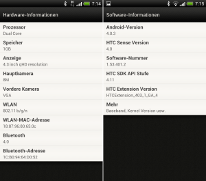 HTC One S - Hardware Software