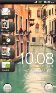 HTC Rhyme Homescreen
